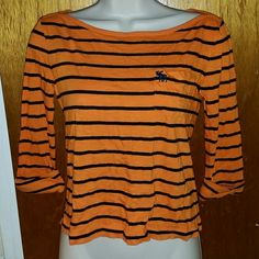 Abercrombie and Fitch Striped Orange Top XS - NWT  Brand new, never worn, no damage.    Smoke-free, pet-free household.    No trades/swaps!   No holds!   No low-balling!   No PayPal!   ✔ Reasonable offers welcomed! Please use the offer button so I know you are serious about the item! I will not respond to price negotiations via comments.  ✔ I love bundling! Not only will you get ONE shipping fee, I will also discount your combined total! Please ask me in the comments!   Happy poshing…