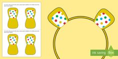 Get into the theme for BBC Children in Need by making your own Pudsey Bear ears with these spotty ear cut-outs. Bear Ears, Make Your Own, How To Make, Children In Need, Teaching Kids, Special Day, Activities, Sunday School, Brownies