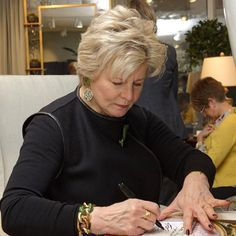 """@washdesignctr's photo: """"#tbt to Charlotte Moss signing her book at Century Furniture for the Washington Design Center grand opening. @washdesignctr"""""""