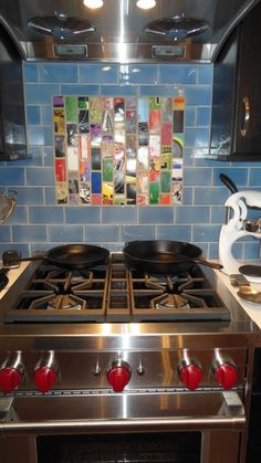 Art of Board Recycled Wood Skateboard Tile Kitchen Backsplash