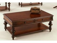 Graceful elegance in a traditional design statement featuring selected hardwoods and rich cherry veneers in a warm, medium brown finish. Coffee Table Furniture, Furniture Decor, Living Room Furniture, Furniture Design, Solid Wood Coffee Table, Coffee Tables, Sheesham Wood Furniture, Center Table, Decor Styles