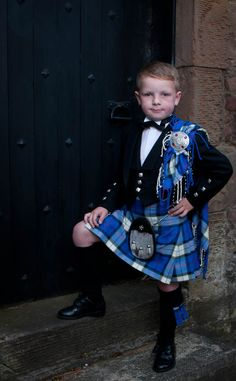 A boy's kilt by Balmoral - This little man deserves a 2nd pin :) www.stagandhenglasgow.com