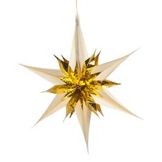 Gold/Cream Star Burst Foil Decoration - 40cm