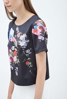 An easy way to do floral print, without having to do an all-over print.