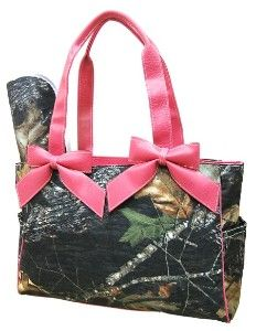 Pink Camo Diaper Bag, don't know that I would use it but it is cute.