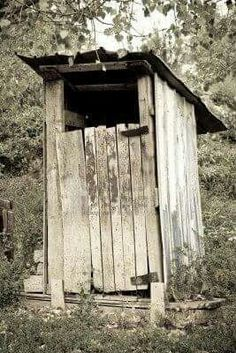 "Our early days "" bathroom"", Toilet, Outhouse."