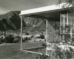 Miller House by Richard Neutra Palm Springs, CA Richard Neutra, Miller House, Frank Lloyd Wright, Mid Century Exterior, Palm Springs California, Modernisme, Modern House Design, Modern Houses, Mid Century House