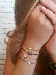 Oro massiccio auguro di rana con diamanti, oro rana gioielli, bracciale, cordoncino in cotone, oro, buona karm, fascino, rane di fortuna, buona fortuna di fattoamanou su Etsy