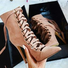 Cheap botas mujer, Buy Quality boots pointed toe directly from China women ankle boots Suppliers: New Sprig Autumn Women Ankle Boots Cross Strappy Short Boots Pointed Toe High Heels Botines Hollow Out Ladies Shoes Botas Mujer High Heels Stilettos, Stiletto Heels, Classy Heels, Strappy Shoes, White Heels, Pink Heels, Lace Up Heels, Sexy Heels, Strap Heels