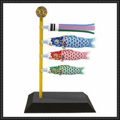 Canon Papercraft - Miniature Carp Streamers Set Free Template Download - http://www.papercraftsquare.com/canon-papercraft-miniature-carp-streamers-set-free-template-download.html