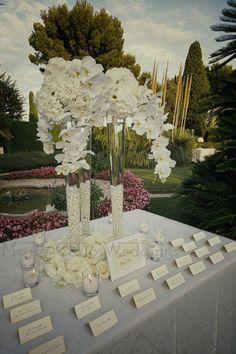Escort card tables. Wedding by Monte-Carlo Weddings.