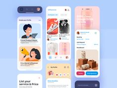 Influencer App designed by purwaji santoso  for OWW. Connect with them on Dribbble; App Home Screen, Motion App, Super Hero Outfits, App Design Inspiration, Mobile Ui Design, Screen Design, Best Mobile, Saint Charles, Interface Design