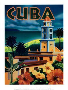 Vintage Cuba Travel Poster