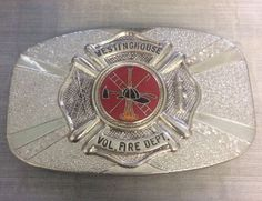 Vintage FD Fire Dept Belt Buckle Volunteer Fireman Westinghouse Pittsburgh PA  | eBay