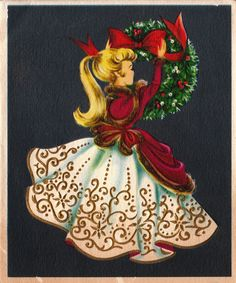 Vintage 1940s  Christmas Greetings Card - love this!