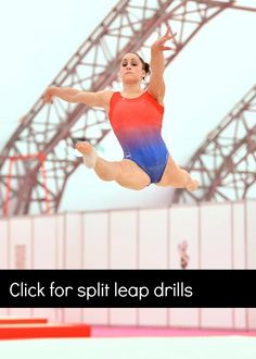 Awesome split leap drills for gymnasts! -- more at www.swingbig.org
