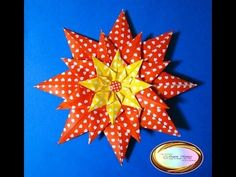 ▶ Origami Maniacs 108: Scrapbook Valentine Flower - YouTube