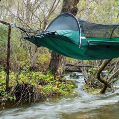 The #1 Camping Hammock in existence the Lawson Hammock Tent is a super lightweight camping hammock tent that is weather resistant, and mosquito free.