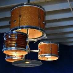 Drum Lights - something ELSE we could have done with those drums at the garage sale