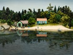 Amy Bennett - Artist Amy Bennet doesn't just stop at creating beautifully complex miniature dioramas. She paints them as still lifes, making them look like tilt shift photographs.
