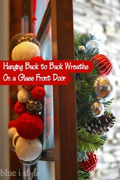 Solution For Glass Front Doors   Hang Wreaths Back To Back! Photos And Wreath  Hanging