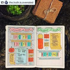 Wow oh wow. #Repost @the.truth.is.overrated (via @repostapp) ・・・ today - and a bit of tomorrow... trying out totally new daily spreads this month, so it took me a few days to make all the details right - but now I'm quite happy with it... header is self e