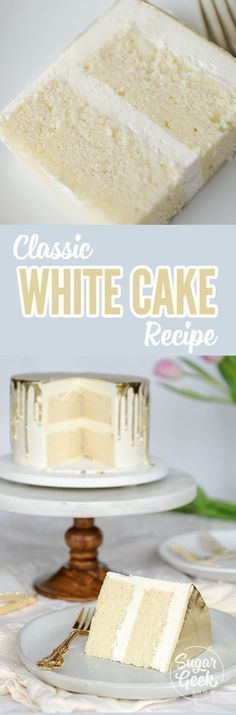 What flavor is a white cake? You might be surprised. This white cake recipe is t… What flavor is a white cake? You might be surprised. This white cake recipe is the perfect classic version. Light and fluffy, moist and full of flavor. Cupcake Recipes, Cupcake Cakes, Dessert Recipes, Frosting Recipes, Recipes For Cakes, Moist Cake Recipes, Easy Birthday Cake Recipes, Birthday Cake Flavors, Layer Cake Recipes