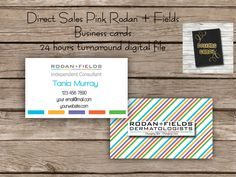 RF Business Card - Digital File - Direct Sales Business Marketing-  Rodan + Fields business card - Printable DIY Custom Digital Download by DesignsCandy on Etsy