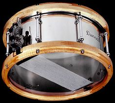 but rosewood hoops on a hammered brass snare 14x8 //;