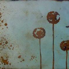Outdoor metal art: 5 Feet from the Moon - Metal - Patina