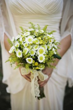 green white bouquets