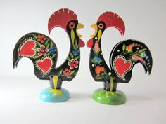 Two Good Luck Roosters of Barcelos Portugal by littlewoodenhouse, $32.00