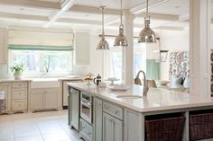 Love those shiny lamps and the countertops and the painted cabinets and ok, can I just move in?