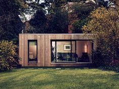 Holzpavillon Wohnhaus-flachdach Beton-fundament Am Hang ... Modernes Gartenhaus Aus Pappelholz