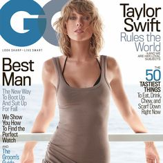 Taylor Swift shows off a very different side for the November 2015 cover of GQ Magazine where she poses in a sultry look including a long tunic and bikini look. Taylor Swift Hot, Estilo Taylor Swift, Taylor Swift Bikini, Taylor Swift Skinny, Beautiful Taylor Swift, Swift 3, Taylor Hill, Kanye West, Betty Catroux