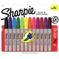 BRUSH Tip Sharpies!!