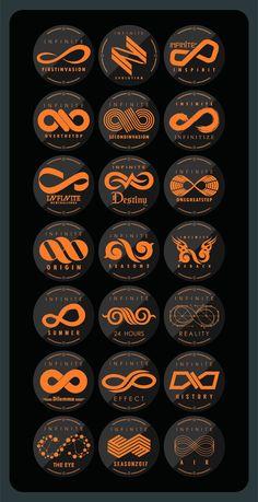 INFINITE logo. But why in orange tho
