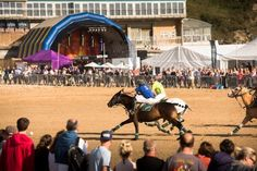 GWR Polo on the Beach 2015 at Watergate Bay, Cornwall Polo Match, Cornwall, Basketball Court