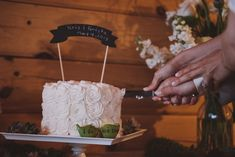 Real Weddings: Krista and Kristofer's North Carolina Mountain Wedding with 4 guests - Chocolate pound cake with peanut butter mousse