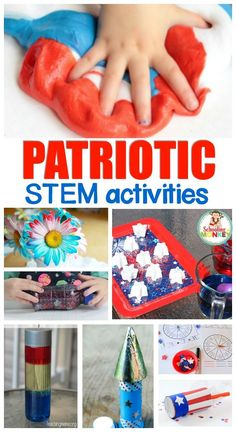 Use these patriotic STEM activities to a patriotic theme, 4th of July activities, or screen-free summer activities for kids.