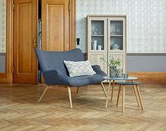 Hjørnebord TAPS stor bambus/grå