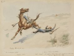 Sid Richardson Museum: The Ambushed Picket by Frederic Remington