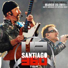 On this day in 2011, U2 played Estadio Nacional Julio Martínez Prádanos in Santiago, Chile.  Audio, recap, setlist, and links: http://u2.fanrecord.com/post/114638900129/one-tree-hill-live-with-francisca-valenzuela