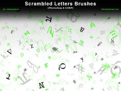 Brushes: 24 Compatibility: Photoshop 7, CS-CS6, CC Photoshop Elements 2+ GIMP 2.2.6+ A set of Photoshop brushes made up of various random scattered letters, symbols, runes, etc. Some have...