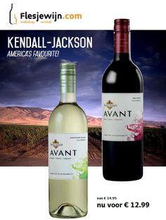 Kendall Jackson Avant Sauvignon Blanc en Kendall Jackson Avant Red Blend in de aanbieding tm 13-03-16. http://www.flesjewijn.com/jackson+family+wines