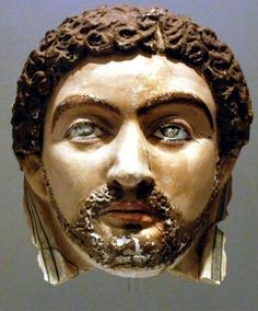Funerary portrait mask of a man from Roman period, Egypt (Roemer Pelizaeus Museum, Hildesheim, Germany).