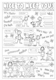 English worksheet: Greetings