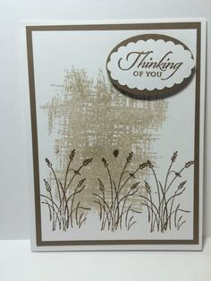 Made with Stampin Up Wetlands stamp