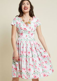 3c0f13ed291af Hell Bunny Blossom Toss-Up Midi Dress. Abiti AzzurriAbiti FlorealiModa ...
