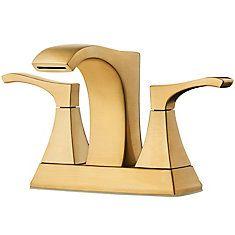 Pfister Venturi Centerset Bathroom Faucet in Brushed Gold Diy Bathroom Decor, Bathroom Styling, Bathroom Ideas, Lavatory Faucet, Bathroom Faucets, Home Depot, Advanced Ceramics, Delta Faucets, Matte Gold